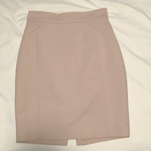 Creme color high waist skirt